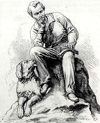 Lord Byron, la Cascata e un Cane